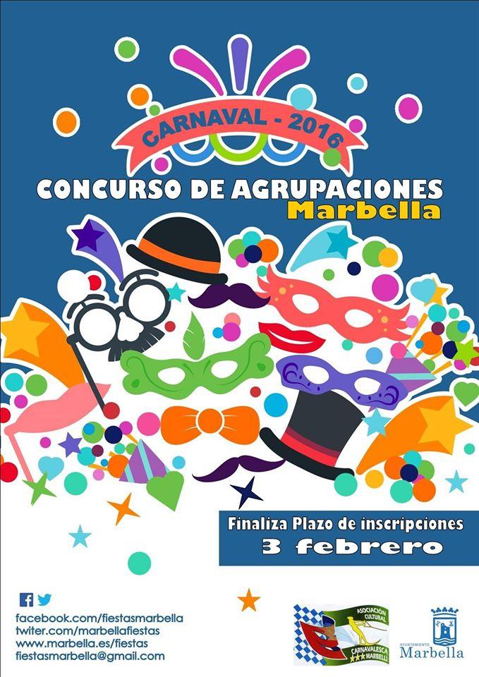 Bases XXIII Concurso de Agrupaciones Carnavalescas Marbella 2.016